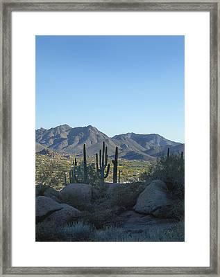 Pinnacle Peak Vista Framed Print