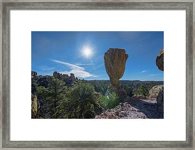 Framed Print featuring the photograph Pinnacle Rock by Dan McManus