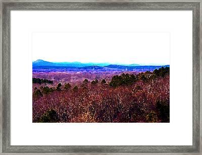 Pinnacle Valley Framed Print by Tom Herrin