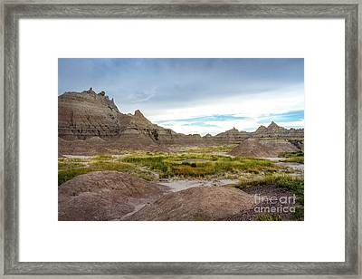 Pinnacles Of The Badlands Framed Print