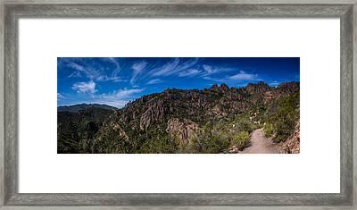Pinnacles View Framed Print