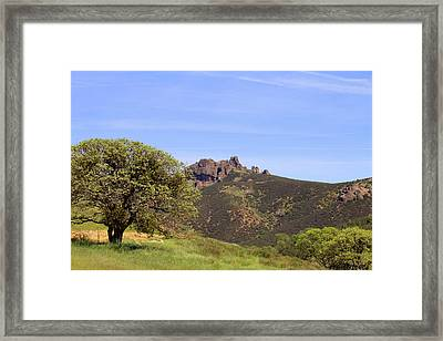 Framed Print featuring the photograph Pinnacles Vista by Art Block Collections