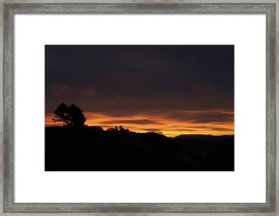 Pinole Valley At Dawn Framed Print
