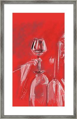 Pinot Love Framed Print