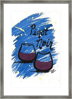 Pinot Noir Framed Print by Alyson Appleton