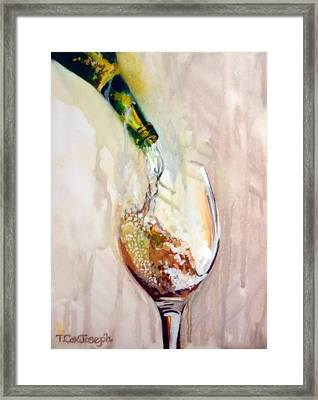 Pinot Pouring Framed Print by Terry Cox Joseph