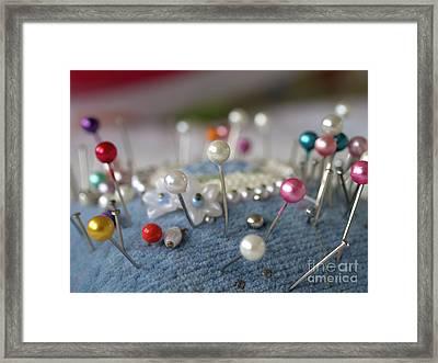 Pins And Needles Framed Print by Gillian Singleton