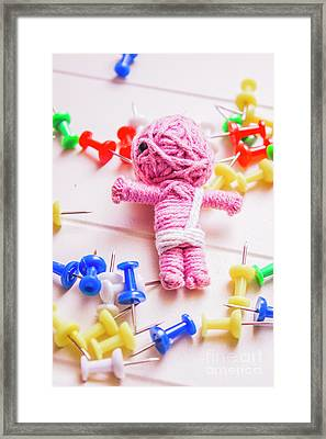 Pins And Needles Mummy Voodoo Doll Framed Print