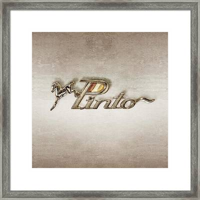 Pinto Car Badge Framed Print by YoPedro