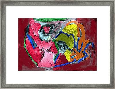 Pintura Moderna 1 Framed Print by Carlos Camus