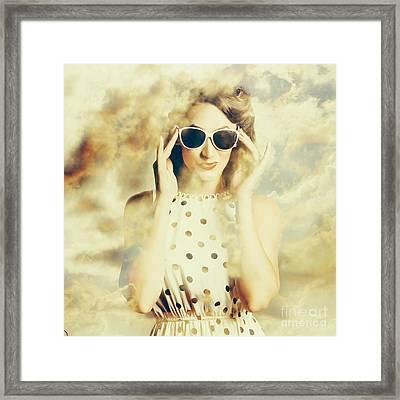 Pinup Fashion Dreams Framed Print