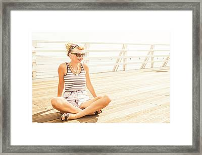 Pinup Pier Girls Day Out Framed Print by Jorgo Photography - Wall Art Gallery