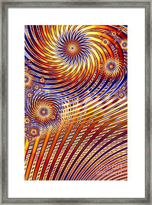 Pinwheel Abstract Framed Print by John Edwards