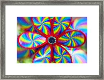 Pinwheel Framed Print by Michal Boubin