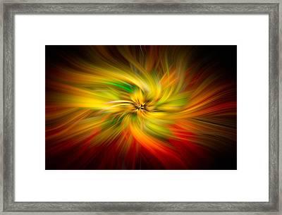 Pinwheels Of Light Framed Print by Debra and Dave Vanderlaan