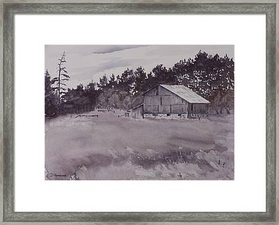 Pioneer Barn Framed Print by Debbie Homewood