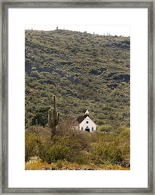 Frontier Church Framed Print by Gordon Beck