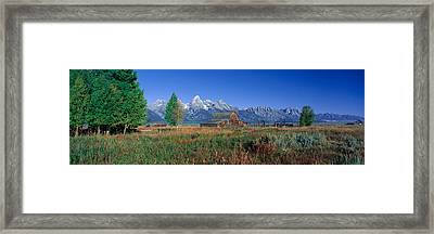 Pioneer Farm, Grand Teton National Framed Print by Panoramic Images