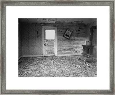 Pioneer Home Interior - Nevada City Ghost Town Montana Framed Print by Daniel Hagerman