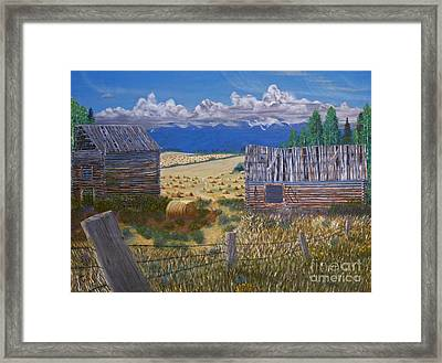 Pioneer Homestead Framed Print by Stanza Widen
