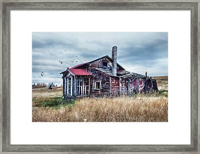 Pioneer Homestead Framed Print by Theresa Tahara