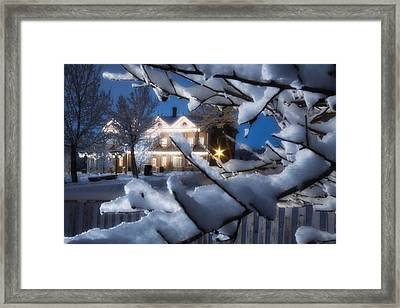 Pioneer Inn At Christmas Time Framed Print by Utah Images