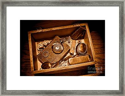 Pioneer Keepsake Box - Sepia Framed Print