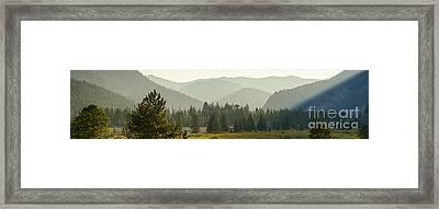 Pioneer Mountain Light Framed Print