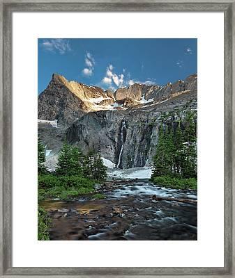 Pioneer Mountains Above Kane Lake Framed Print by Leland D Howard