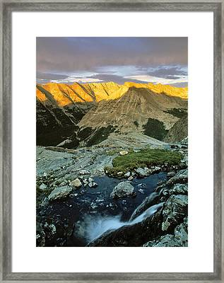 Pioneer Mountains Framed Print by Leland D Howard