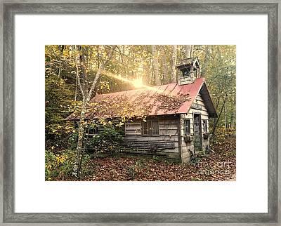 Pioneer One Room School House Gnawbone Indiana Framed Print by Scott D Van Osdol