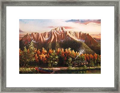 Pioneer Peek Framed Print by Ryan L  Jones