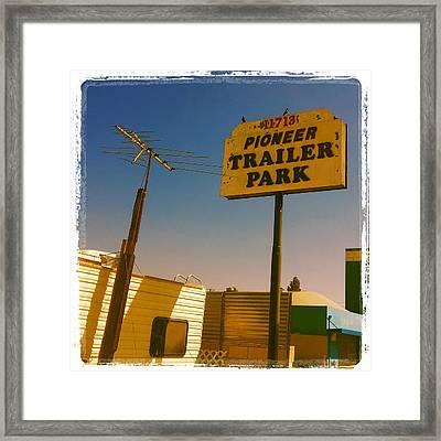 Pioneer Trailer Park Framed Print