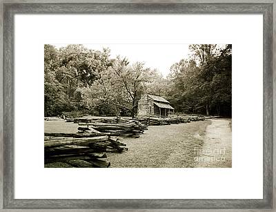 Pioneers Cabin Framed Print by Scott Pellegrin