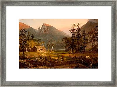 Pioneer's Home At Eagle Cliff - White Mountains Framed Print