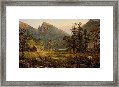 Pioneer's Home Eagle Cliff  White Mountains Framed Print by Jasper Francis Cropsey