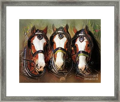 Framed Print featuring the digital art  Pioneers by Trudi Simmonds