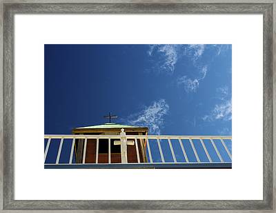 Pioneertown  Church Framed Print by DRK Studios