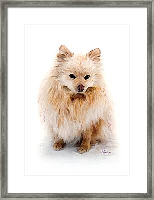 Framed Print featuring the pastel Pip by Brent Ander