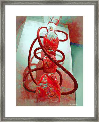 Pipe Dreams Framed Print by Joan  Minchak