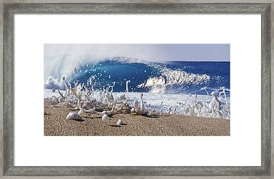 Pipe Foam Framed Print