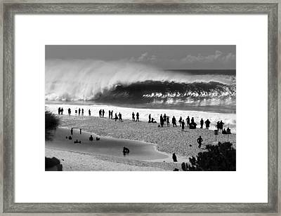 Pipe Frenzy Framed Print by Sean Davey