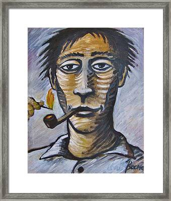 Pipe Lighter Framed Print by Chris Boone