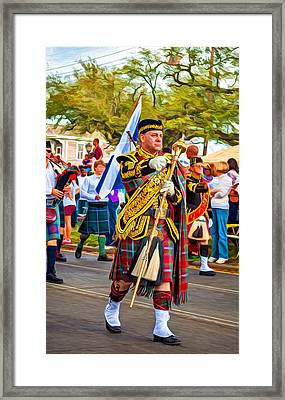 Pipe Major - Paint Framed Print by Steve Harrington