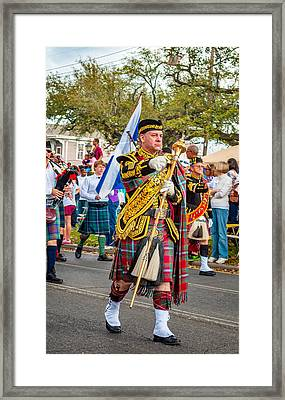Pipe Major Framed Print by Steve Harrington