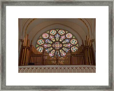Pipe Organ - Church Framed Print by Kim Hojnacki