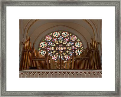 Pipe Organ - Church Framed Print