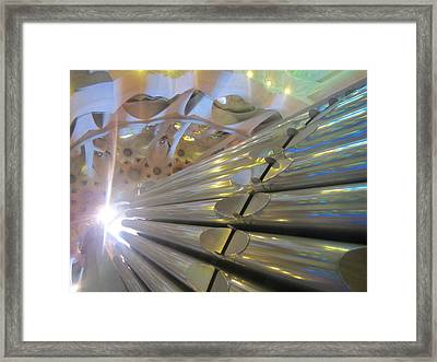 Pipe Organ Of La Sagrada Framed Print
