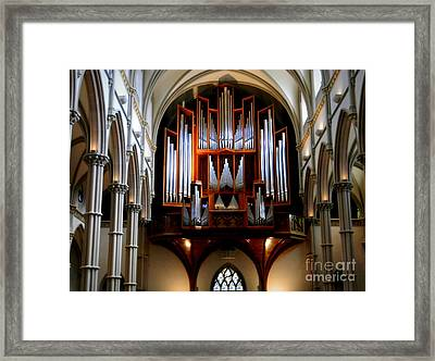 Pipe Organ, St. Paul's Cathedral, Pittsburgh, Pa  Framed Print