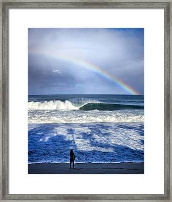 Pipe Rainbow Palms Framed Print by Sean Davey